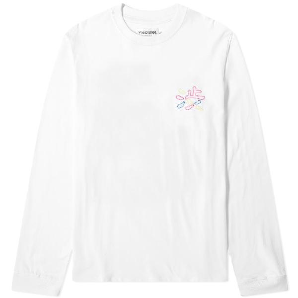 Vanquish Long Sleeve Shibuya Neon Tee In White