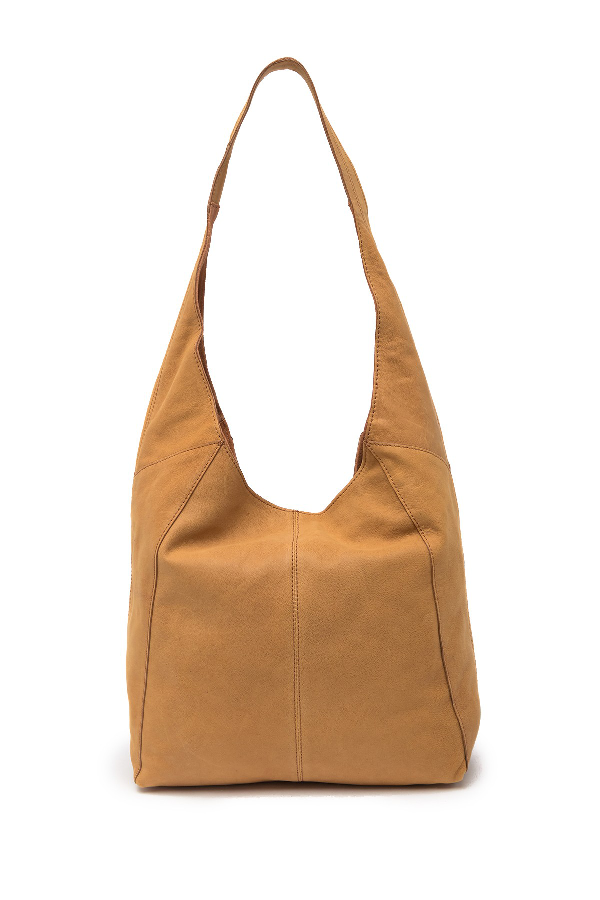 Lucky Brand Patti Leather Hobo Shoulder Bag In Walnut 09