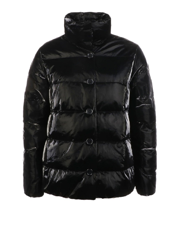Aspesi 45 Giri Puffer Jacket In Black
