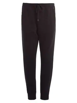 Fendi Jogging Ff Net Jersey Trousers In Black