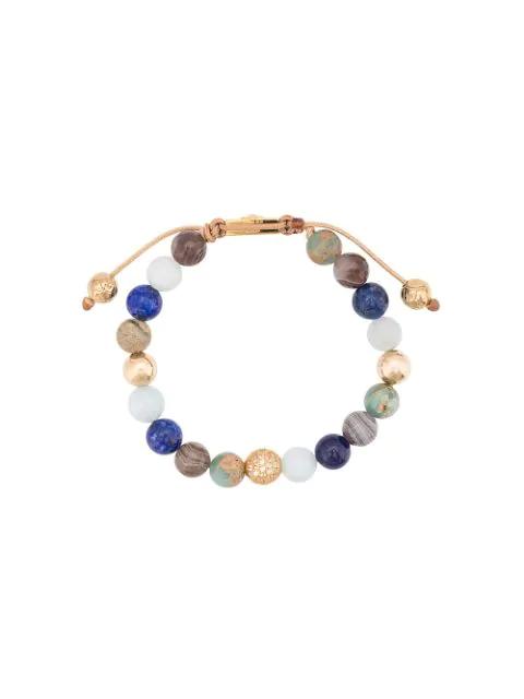 Nialaya Jewelry Faceted Stone Bracelet In Blue