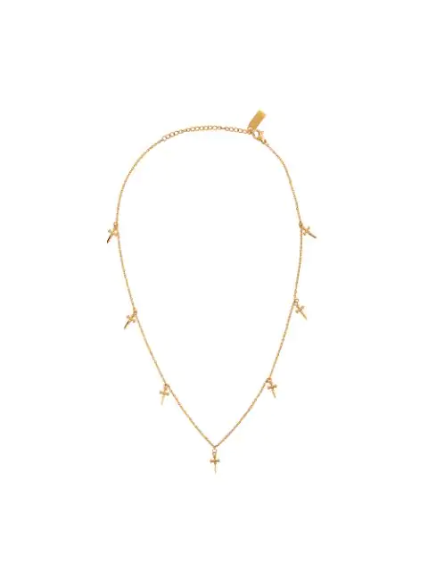 Nialaya Jewelry Hanging Cross Necklace In Gold