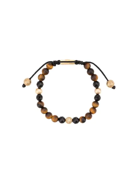 Nialaya Jewelry Faceted Stone Bracelet In Brown