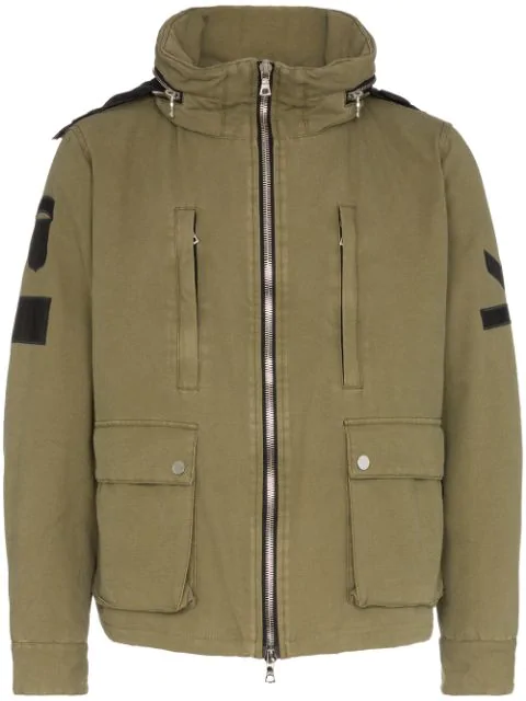 Amiri Military Stand Casual Jacket In Green Cotton