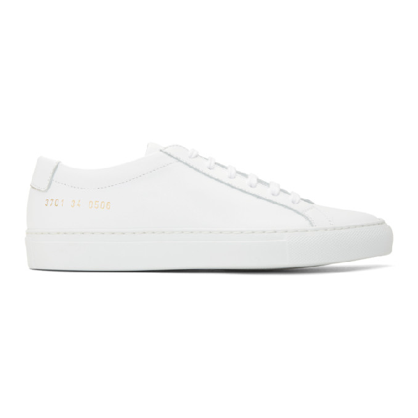 Common Projects Original Achilles Low-top Leather Trainers In 0506 White