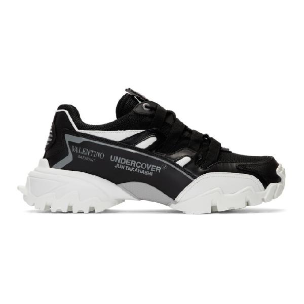 Valentino Garavani Undercover Climber Sneakers Black And White In Jq8nero/bia
