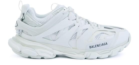 Balenciaga Track Nylon, Mesh And Rubber Sneakers In White