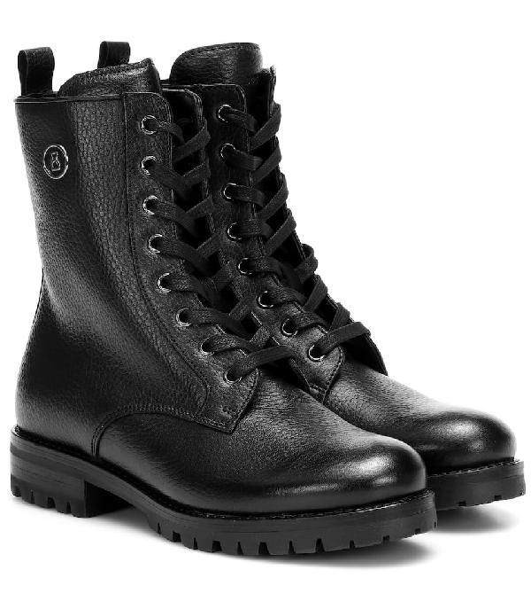 Bogner New Meribel Leather Ankle Boots In Black