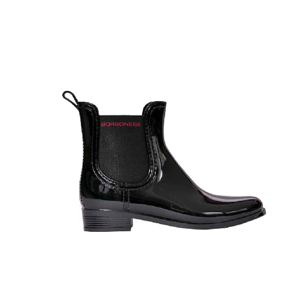 Borbonese Women's Black Leather Ankle Boots