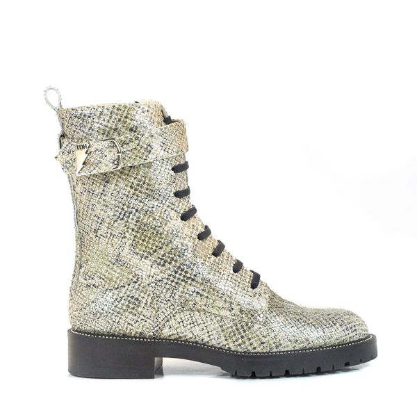 Terry De Havilland Rita Festival Boot Long Silver In Animal Print