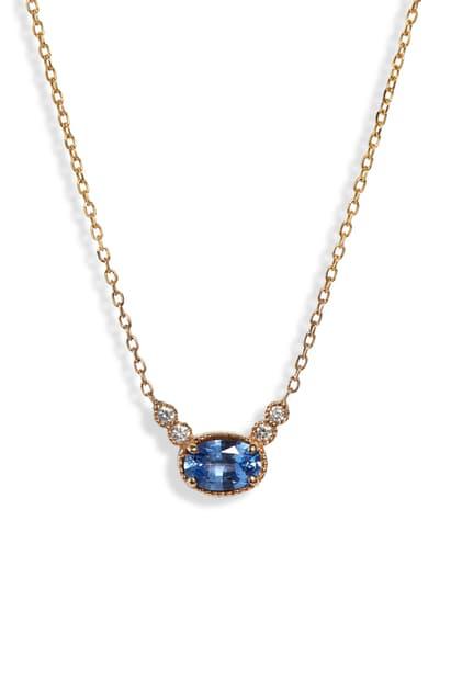 Jennie Kwon Designs Dew Ceylon Sapphire & Diamond Necklace In Yellow Gold/ Diamond/ Sapphire