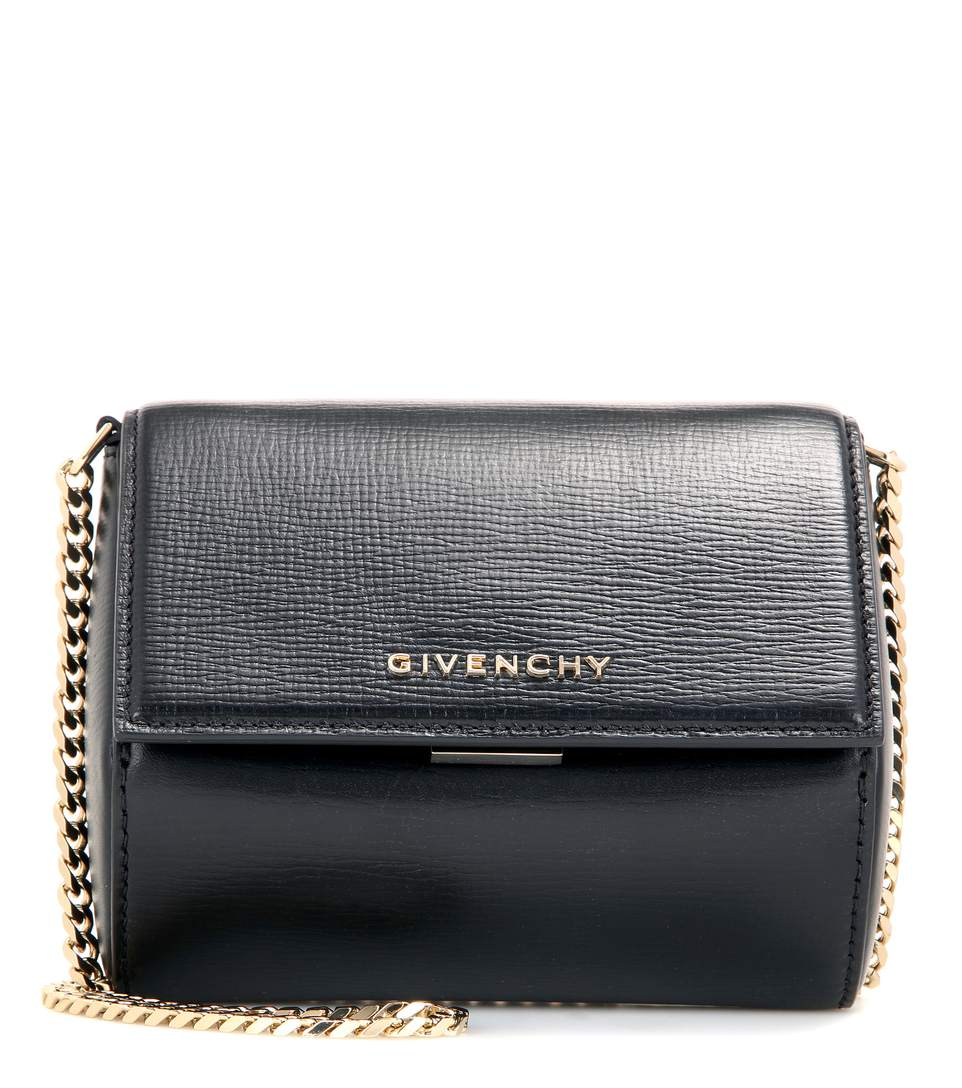 219f3587f0 Givenchy Pandora Box Micro Leather Shoulder Bag In Black