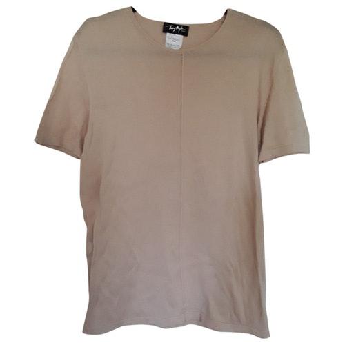 Mugler Beige Cotton T-shirts