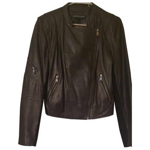 Andrew Marc Black Leather Jacket