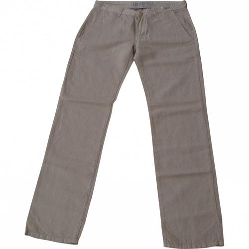 Karl Lagerfeld Beige Cotton Trousers