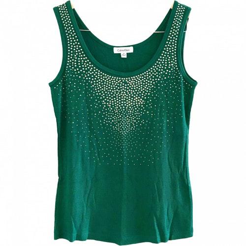 Calvin Klein Green Cotton  Top