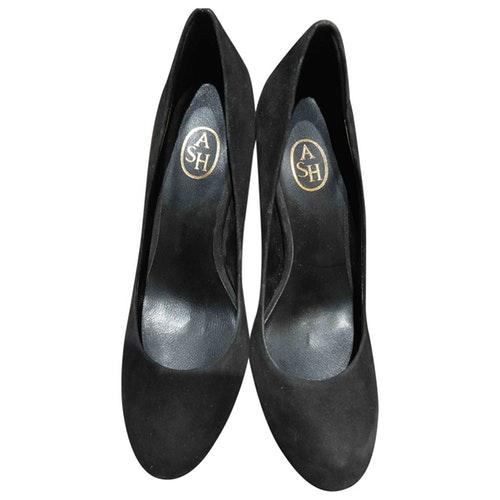 Ash Black Suede Heels