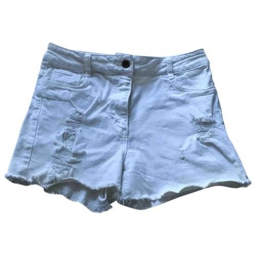 Sandro White Cotton - Elasthane Shorts