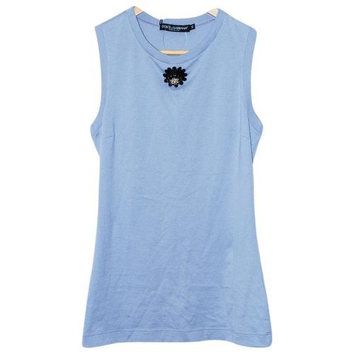 Dolce & Gabbana Blue Cotton  Top