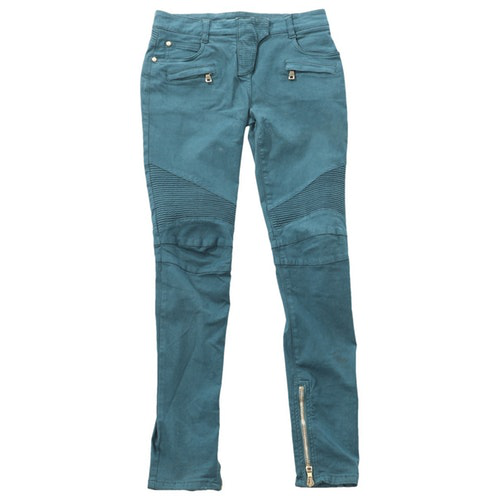 Balmain Green Cotton Trousers