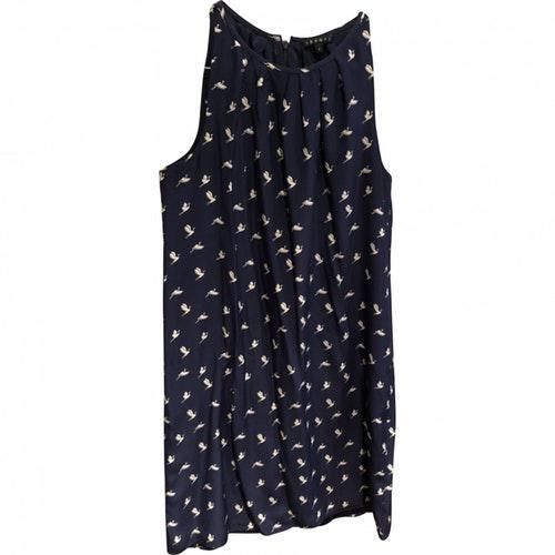 Theory Navy Silk Dress