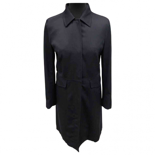 Prada Navy Cotton Trench Coat