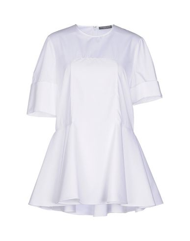 Alexander Mcqueen Paneled Pique Blouse In White