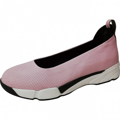 Pinko Pink Leather Ballet Flats