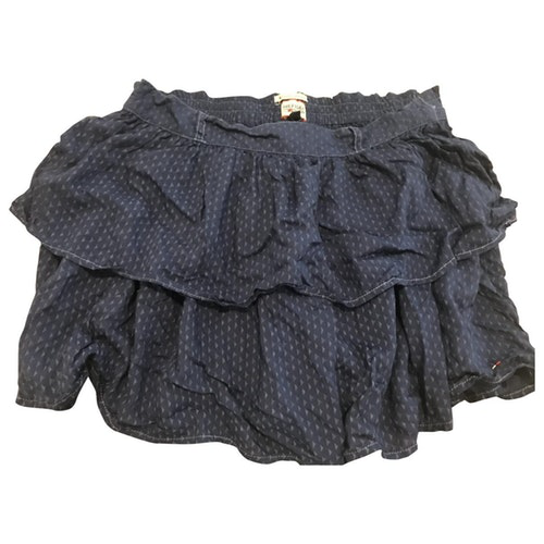 Tommy Hilfiger Blue Cotton Skirt