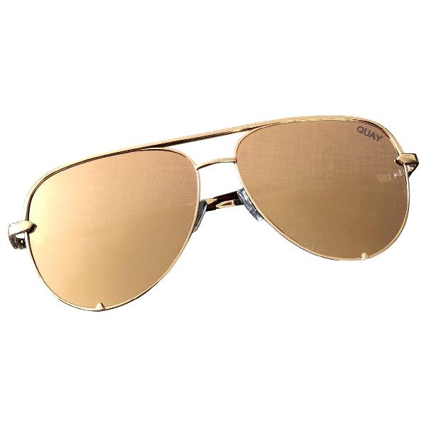 Quay Gold Metal Sunglasses