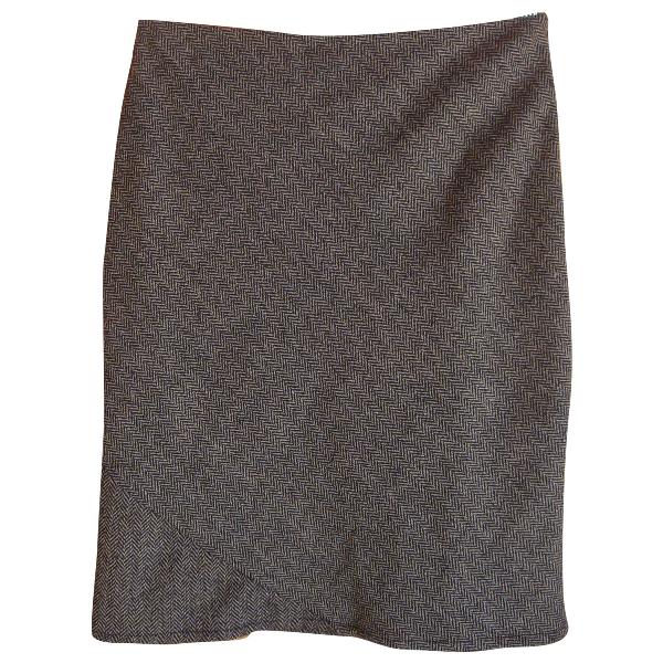 Claudie Pierlot Brown Wool Skirt