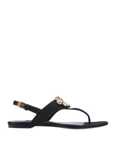 Versace Flip Flops In Black