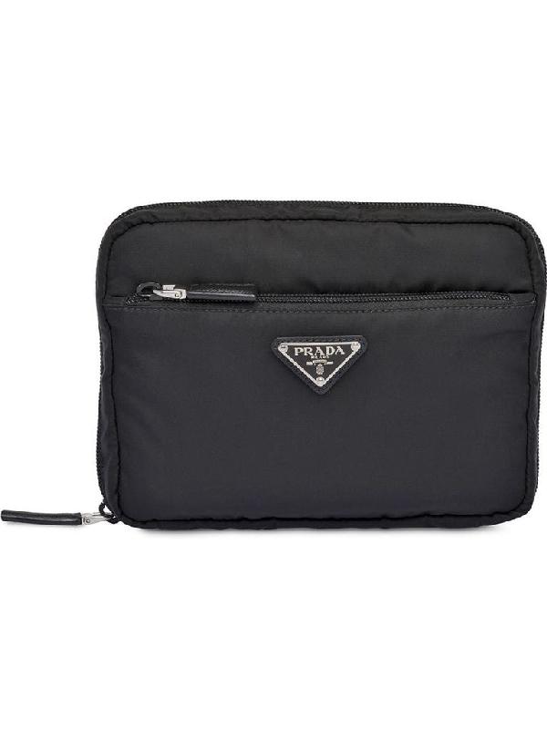 Prada Black Polyester Beauty Case