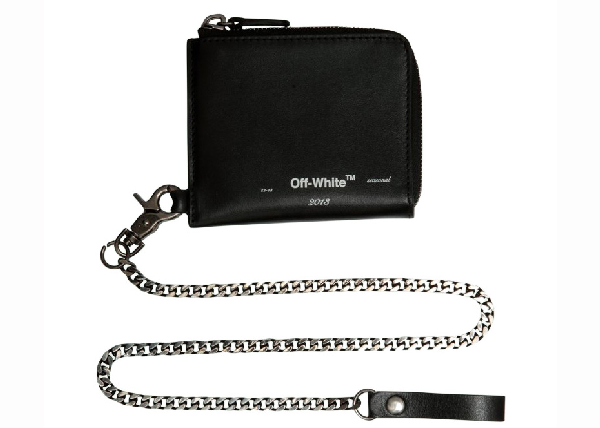 Off-white Logo Chain Wallet Black White