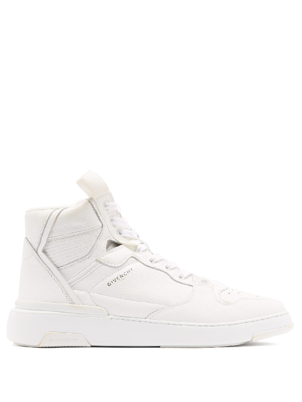 Givenchy Wing Grosgrain-trimmed Full-grain Leather High-top Sneakers In White