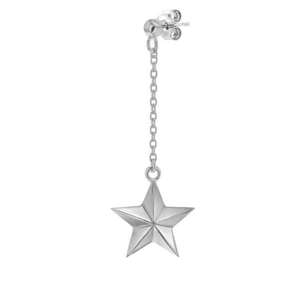 True Rocks Sterling Silver Star Drop Earring
