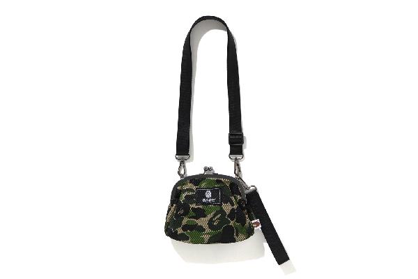 Bape Abc Camo Clasp Mesh Shoulder Bag Green