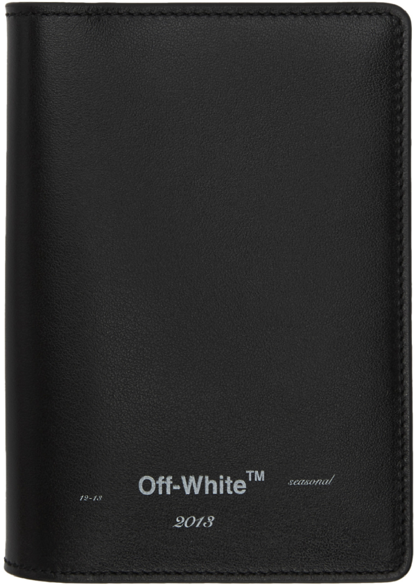 Off-white Logo Passport Wallet Black White
