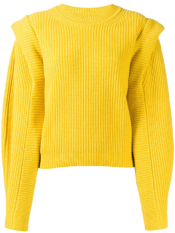 Isabel Marant Bolton Jumper In Yellow