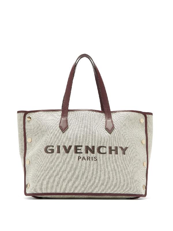 Givenchy Exclusive To Mytheresa – Bond Medium Canvas Shopper In Merlot