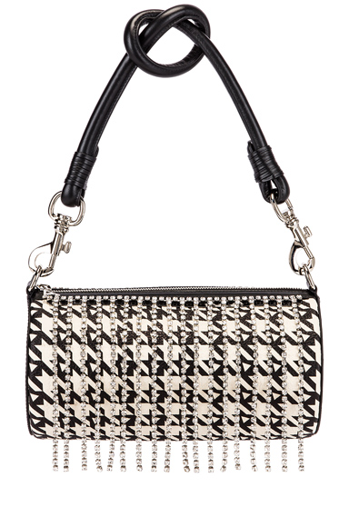 Area Roll Bag In Black Houndstooth