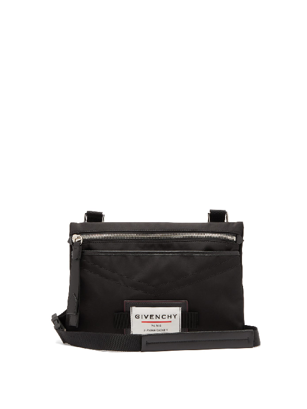 Givenchy Downtown Flat Cross-body Bag In 001 Black
