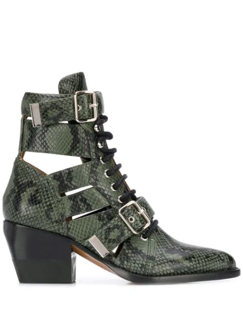ChloÉ Rylee Ankle Boots In Green