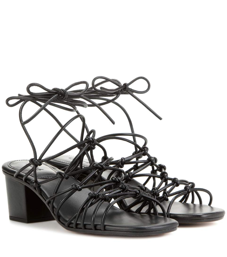 7130926af13 ChloÉ Knotted Leather Low-Heel Gladiator Sandal