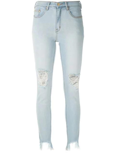 Amapô Rocker Skinny Jeans In Blue