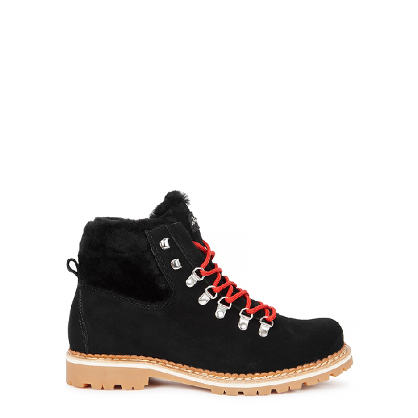 Montelliana Camelia Shearling-lined Ankle Boots In Black