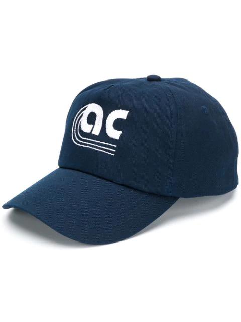 Applecore Monogram Logo Embroidered Cap In Blue