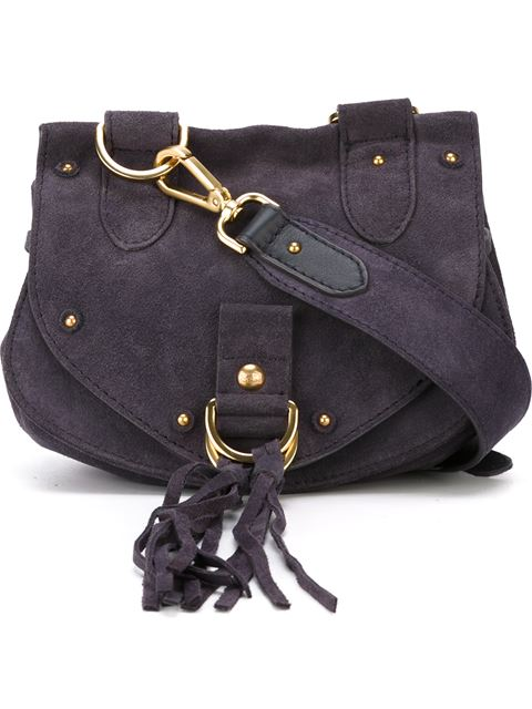 6ffd2cb4f4fb See By ChloÉ See By Chloe Collins Fringe Suede Saddle Bag