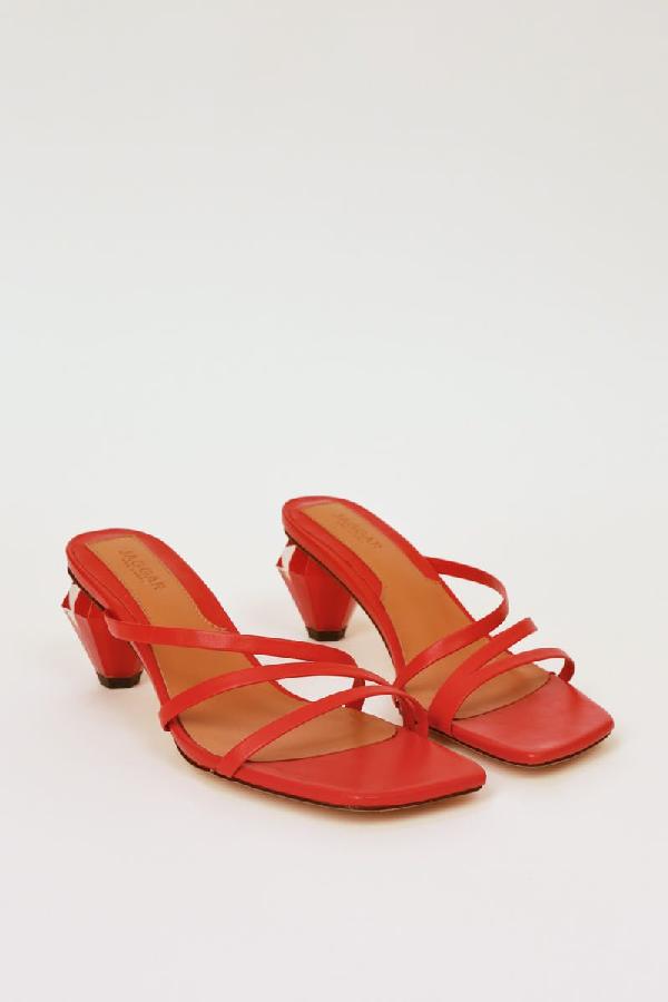 Jaggar Strappy Slide Sandal In Red
