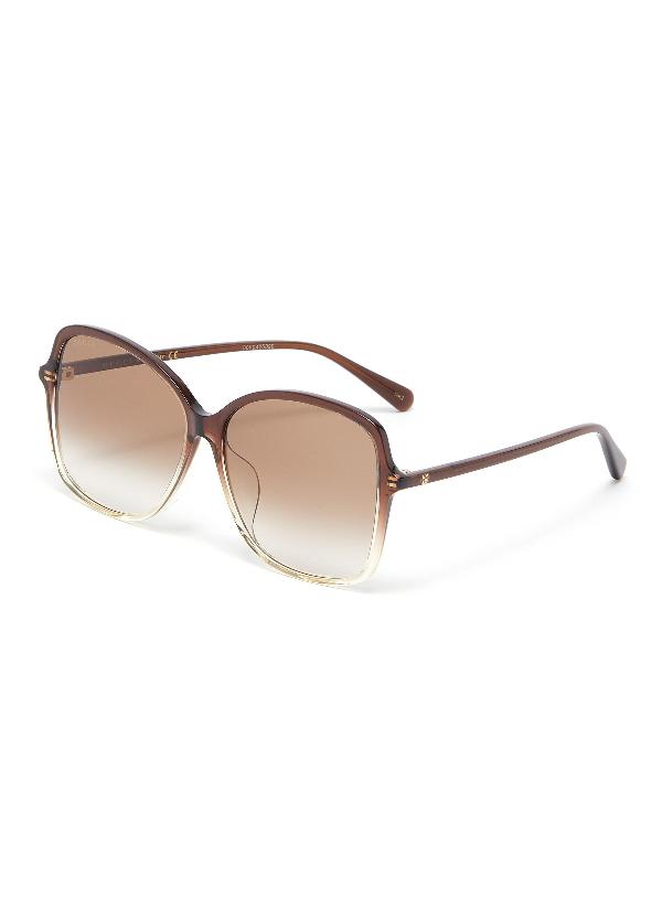 Gucci Acetate Frame Gradient Square Sunglasses In Brown